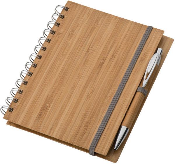 Notes z bambusową okładką