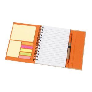 Eko notes na spirali - pomarańczowy