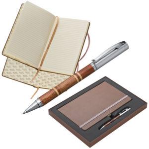 Zestaw w pudełku - notes A5 z długopisem