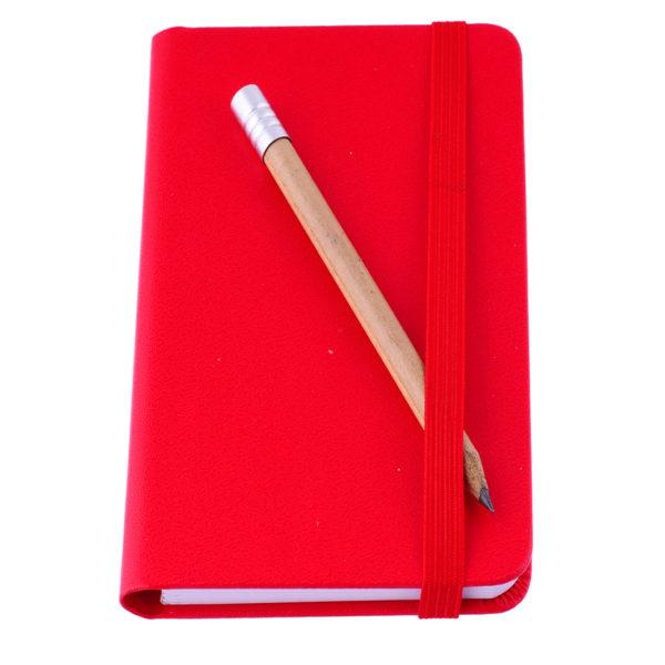 Notesik A7 czerwony