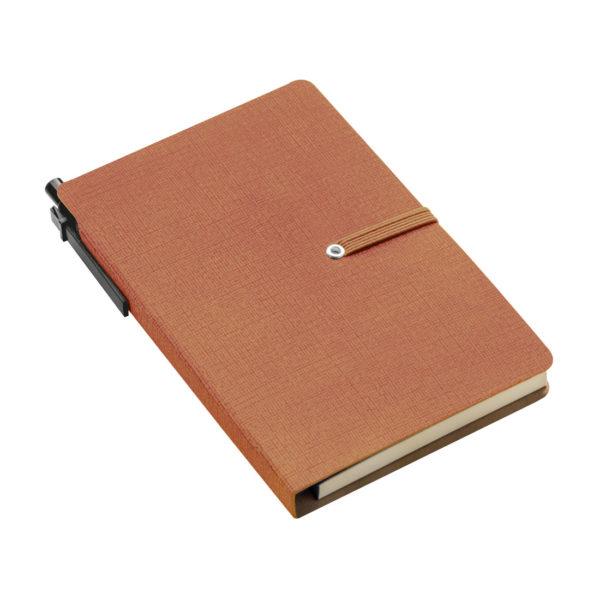 Notesik z karteczkami - brązowy