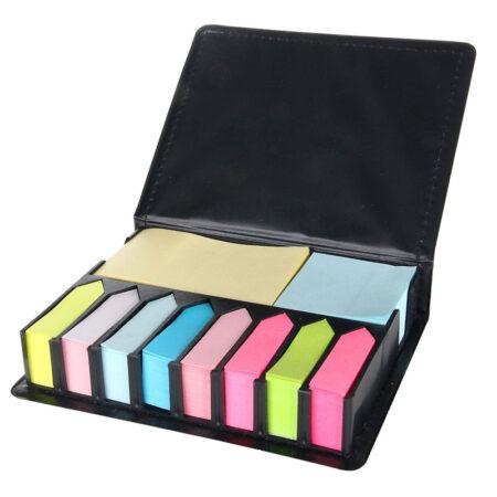 Karteczki do markowania w czarnym pudełku