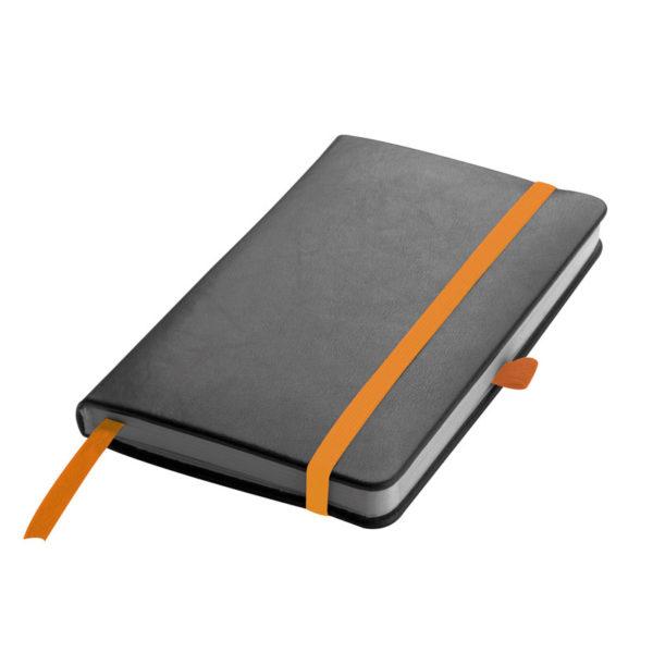 Notes A6 czarny z pomarańczowymi akcentami
