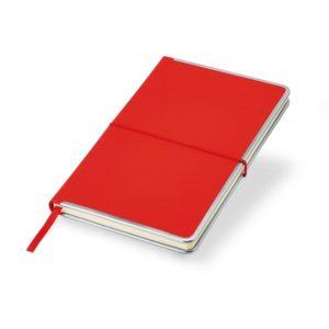 Notes A5 czerwony z metalowymi bokami
