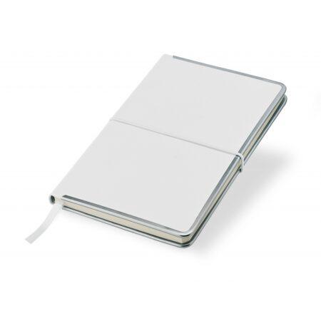 Notes A5 biały z metalowymi bokami