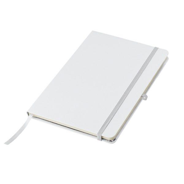 Biały notes A5 z kieszenią