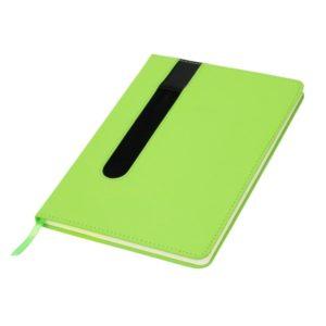Notes A5 w linie zielony