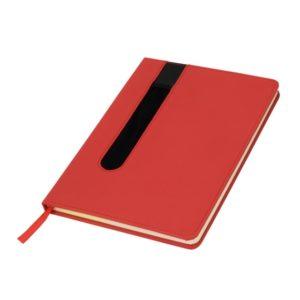 Notes A5 w linie czerwony