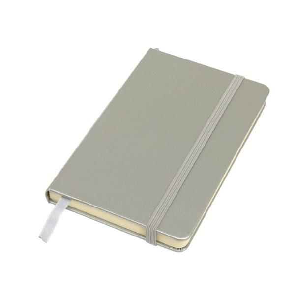 Notes A6 w linie srebrny
