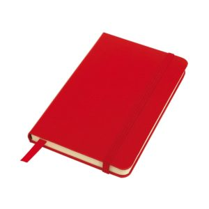 Notes A6 czerwony w linie