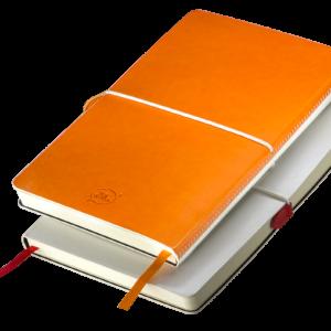 Notes A5 z gumką biało - czerwony