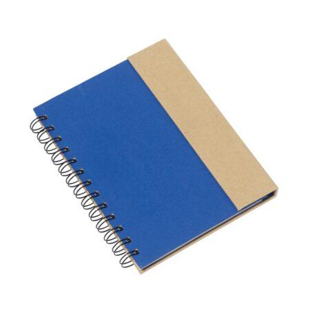 Eko notes na spirali - niebieski