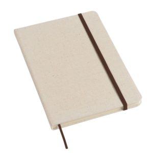 Notes w linie pokryty płótnem A5