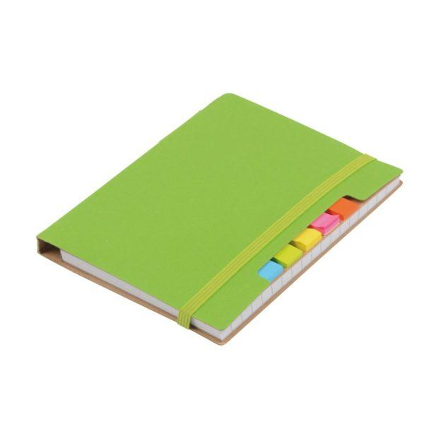 Notatnik z karteczkami indeksującymi